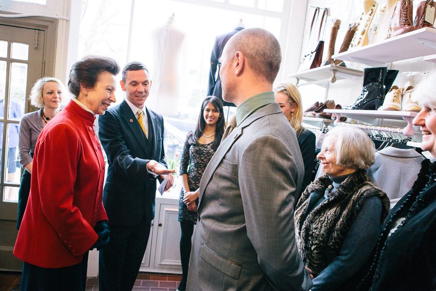 Princess Anne visiting Save The Children